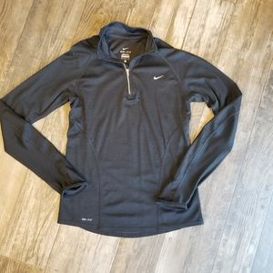 Nike Dri Fit Quarter Zip Pull-Over  Black